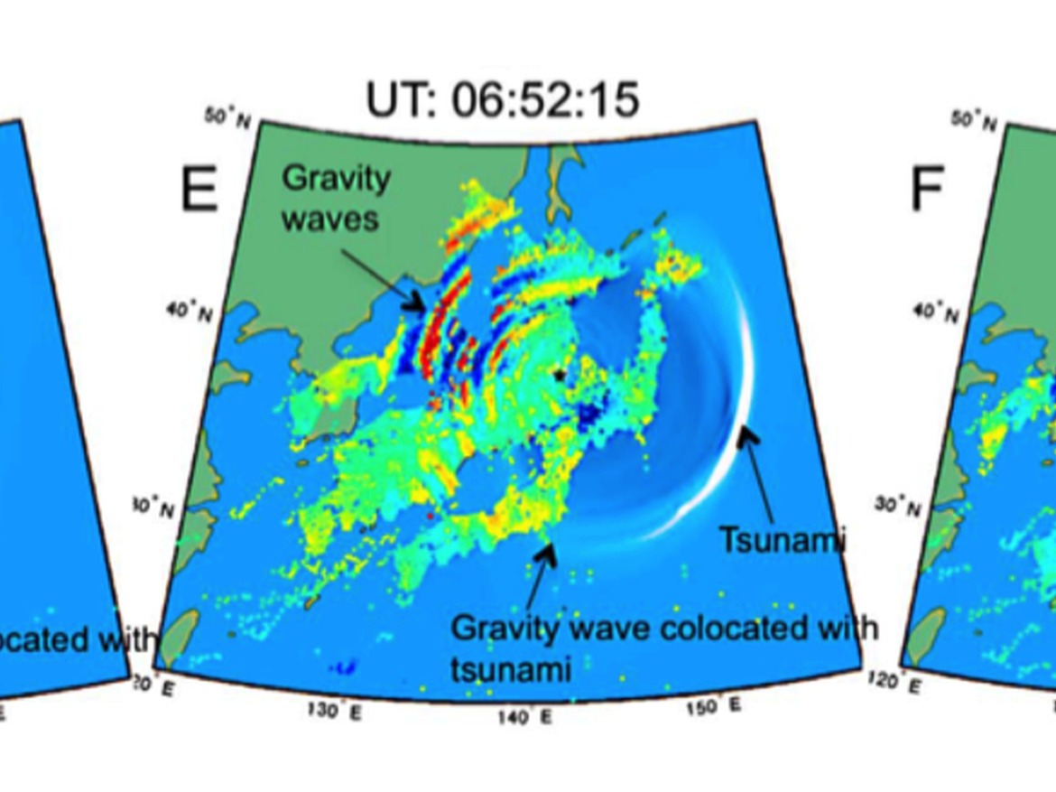 Japan earthquake and tsunami measured by GPS