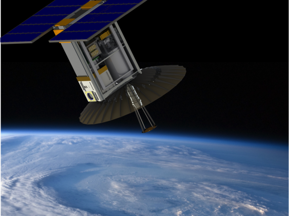 RainCube satellite to observe cloud and rain from space