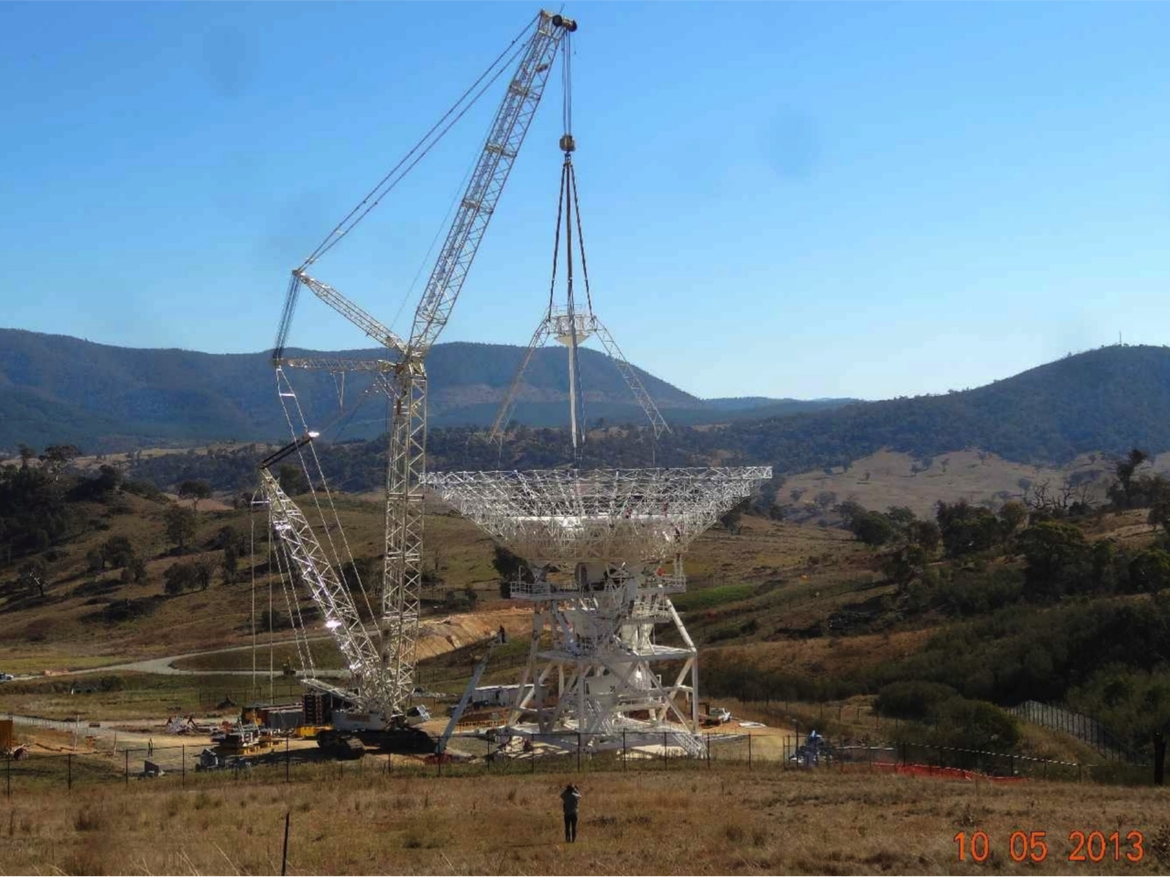 construction of a 34-m beam waveguide ground antenna